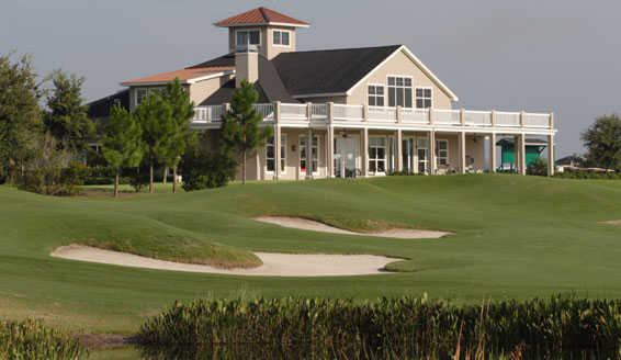 A view of the clubhouse at Highlands Ridge