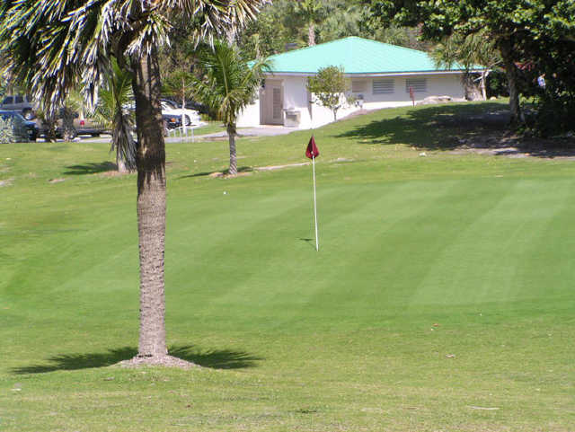 A view of a green at Red Reef Executive Golf Course