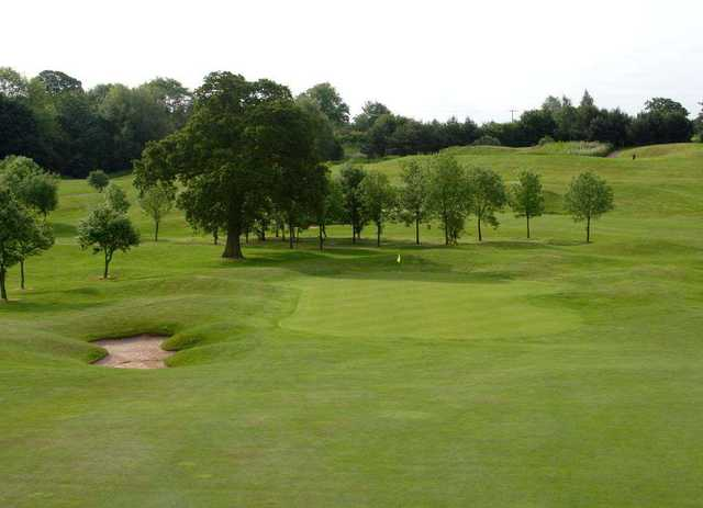 The 7th hole on the Gold course at the Shropshire Golf Centre