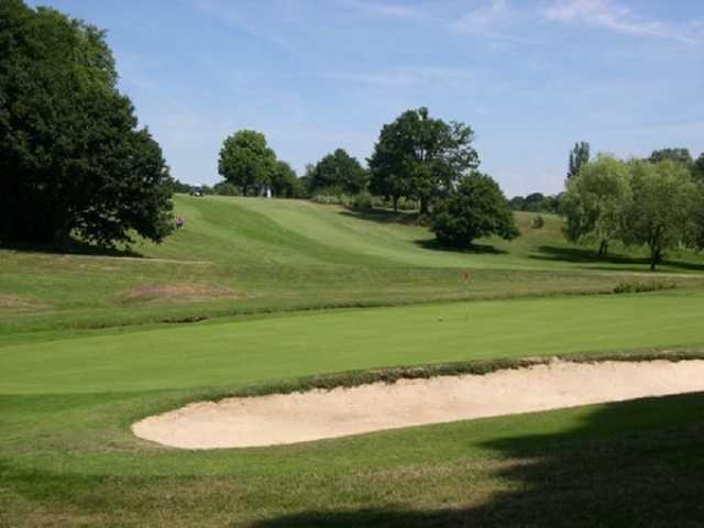 The 9th hole at Bushey Hall Golf Club