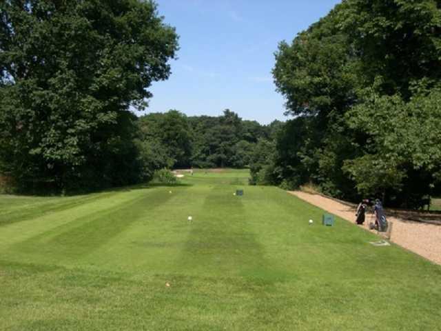 The 10th tee at at Bushey Hall Golf Club