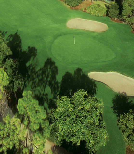 Aerial view of the 2nd hole at Spanish Wells Country Club - East Course