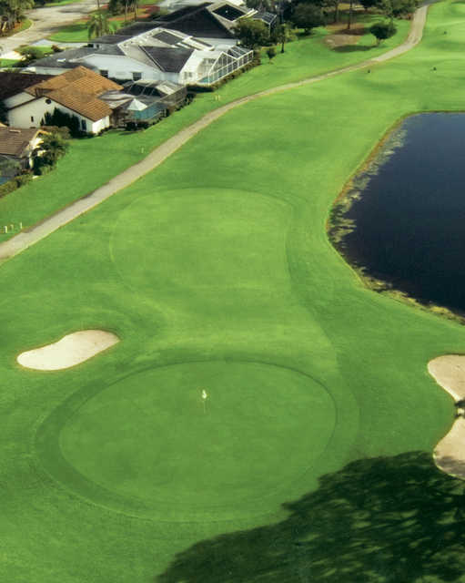 Aerial view of hole #4 at Spanish Wells Country Club - South Course