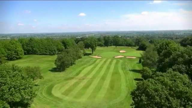 Aerial view from Atherstone Golf Club