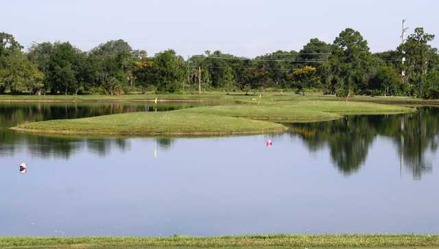 A view of the practice area at The Preserve Golf Club