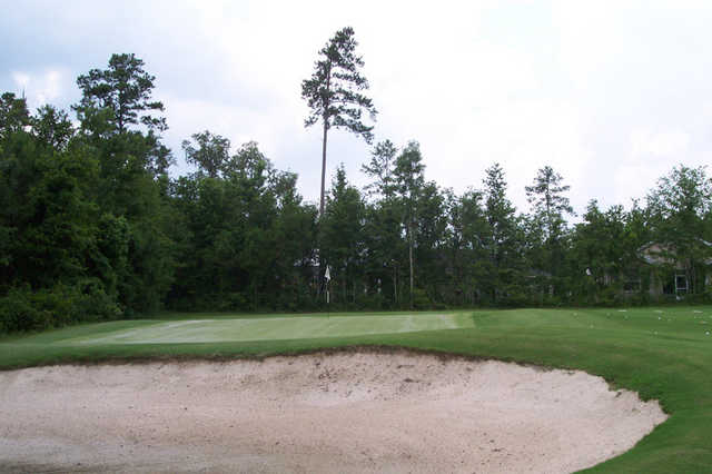 A view of the practice bunker at Hernando Oaks Golf & Country Club