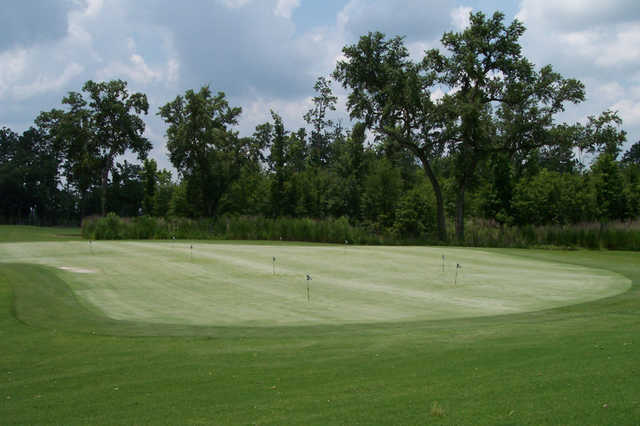 A view of the putting green at Hernando Oaks Golf & Country Club