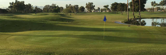 View of the 17th hole at Pueblo El Mirage Golf Club