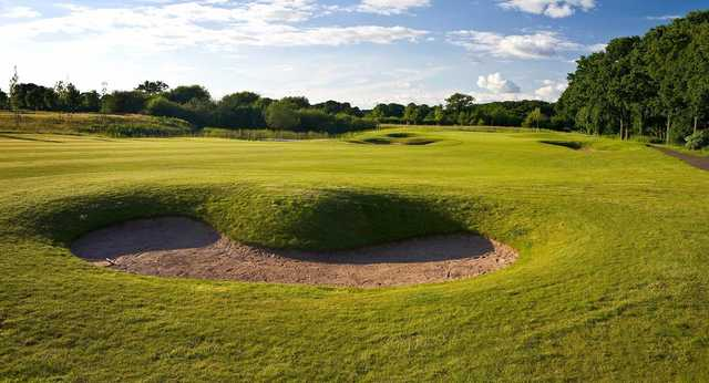 Bunkers on the 14th hole of the Nicklaus course