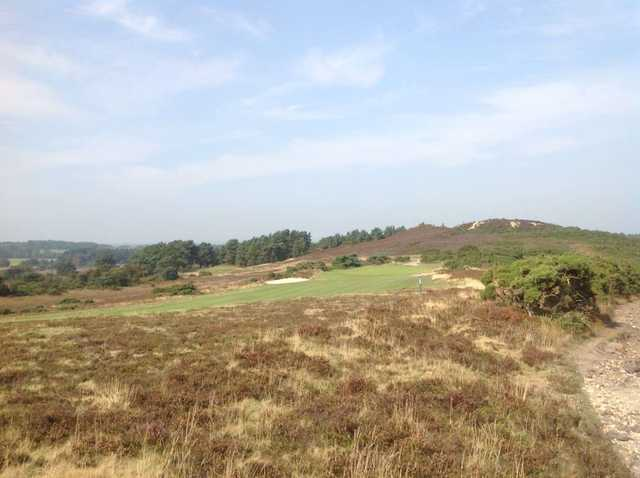 The challenging 10th approach at the  Isle of Purbeck Golf Club