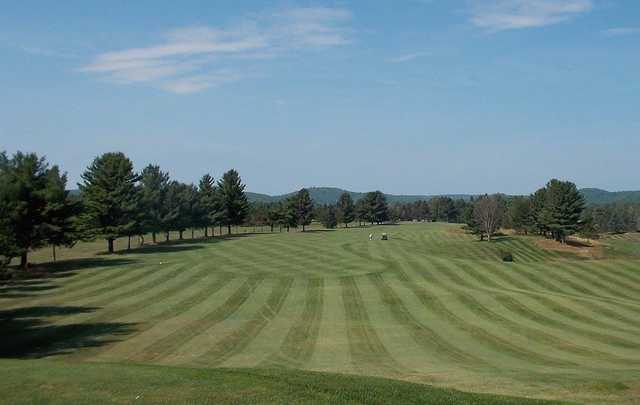 A view of a fairway at Bancroft Golf Course