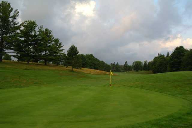 A view of a green at Bancroft Golf Course