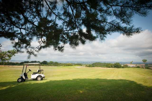 A fairway view from the Acorns golf course