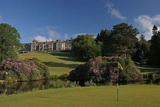 The 3rd green at Bovey Castle