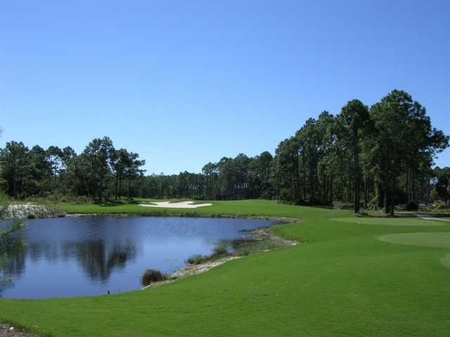 A view of green #10 at St. James Bay Golf Club