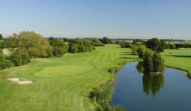 Overlooking the 17th green on the Championship course at Nottinghamshire GC