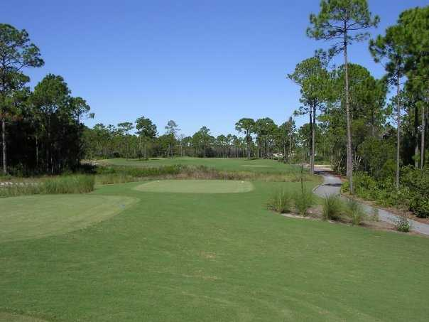 A view of the 13th hole at St. James Bay Golf Club