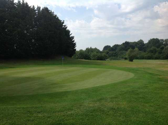 9th green on Cray Valley  at Orpington Golf Course