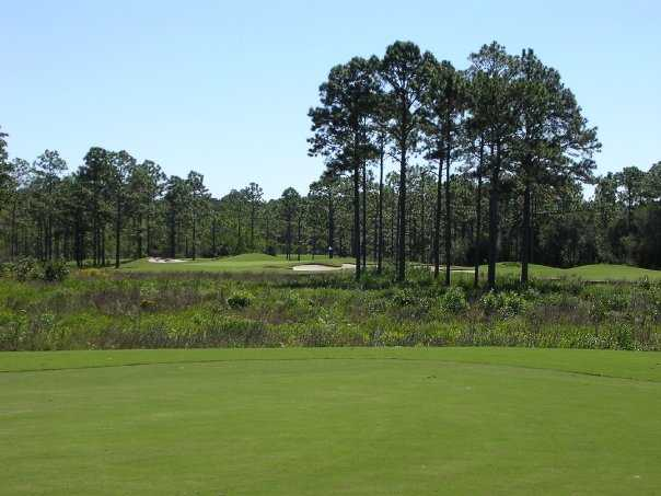 A view of hole #15 from the fairway at St. James Bay Golf Club