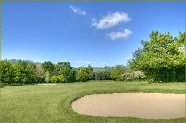 The Bearsted golf course bunkers