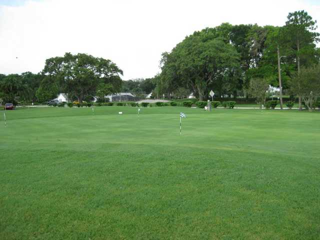 A view of the putting green at Casselberry Golf Club