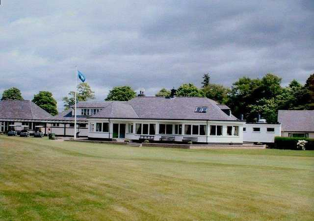 The clubhouse at the Edzell Golf Club