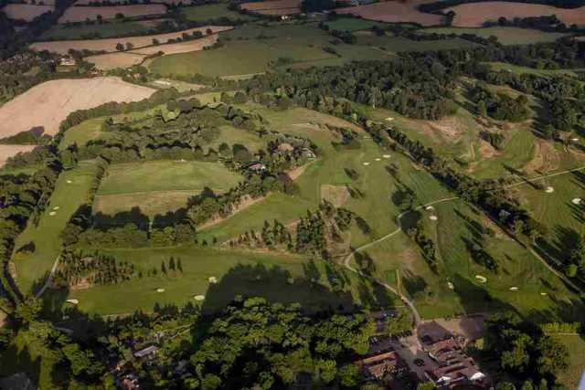 Aerial view of the Princes course