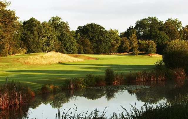 Looking over the water to the 5th green on the Princes Course