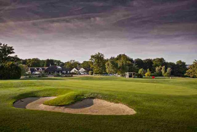 Bunker on the Championship course at Hever Castle