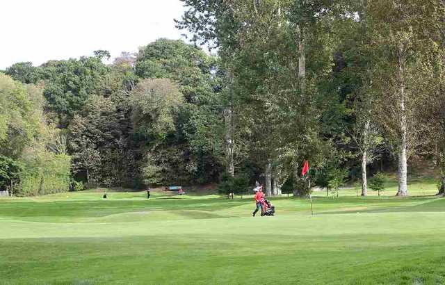 The 13th hole at Inverness Golf Club