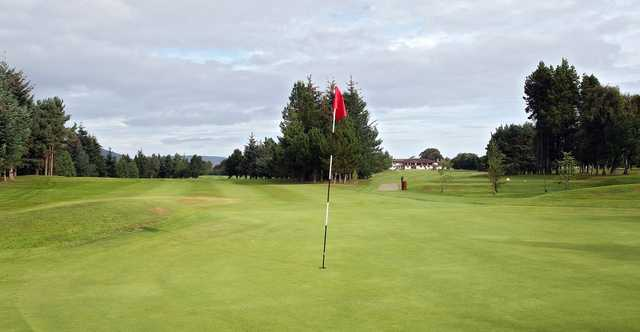 The 17th green at Inverness Golf Club.