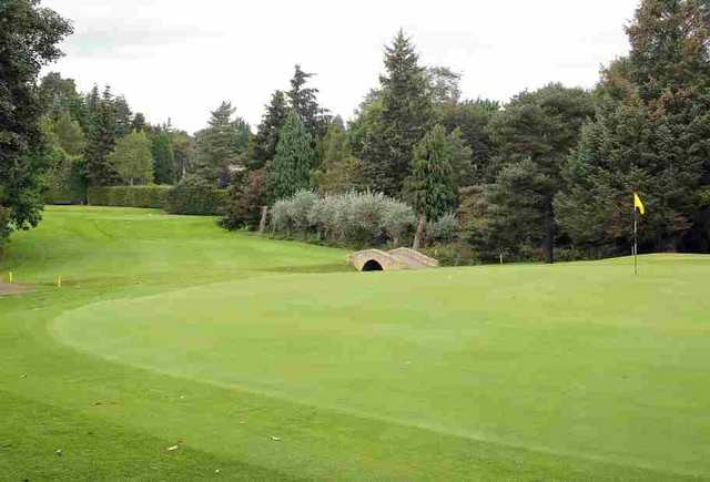 The 9th hole at Inverness GC
