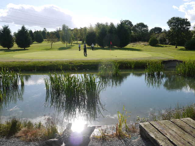 Pond on the course at Aylesbury Vale Golf Club