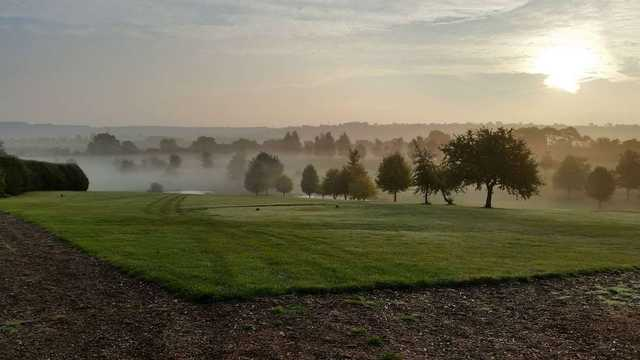 A misty tee shot at Princes Risborough Golf Club