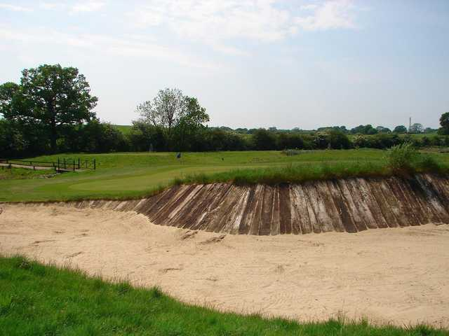 Bunker on the 17th at Blakes Golf Club