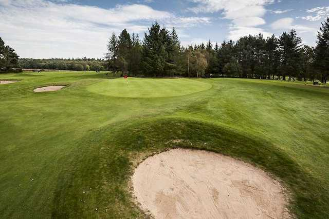 The 10th green on the Alyth Golf Course
