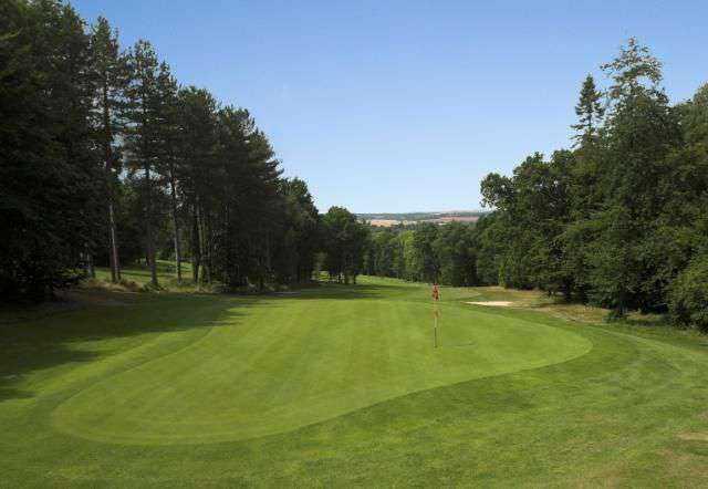 A look down the 10th green at Oak Park Golf Club