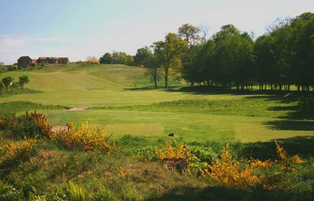 A range of fairways at the Letham Grange Golf Club