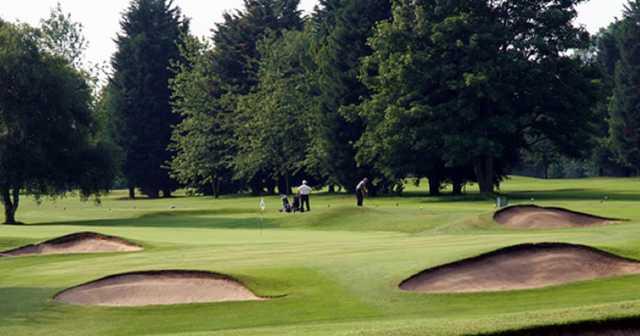 The 1st green at Flackwell Heath Golf Club