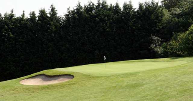 The 15th green at Flackwell Heath Golf Club