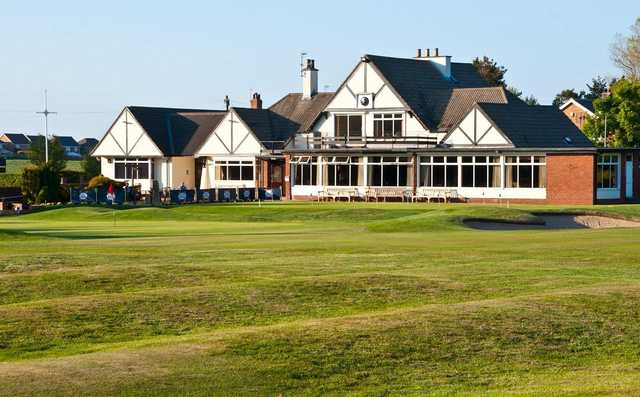 A view of the clubhouse from the 18th green