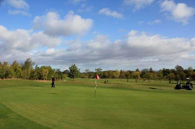 The superb condition of the greens is apparent when you play them