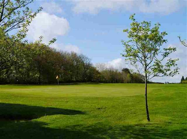 View of the 10th green at Honiton Golf Club