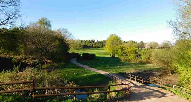 The 18th hole at Shirley Golf Club