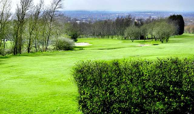 The 16th hole at Dukinfield Golf Club