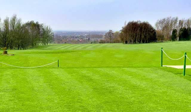 The 1st hole at Dukinfield Golf Club