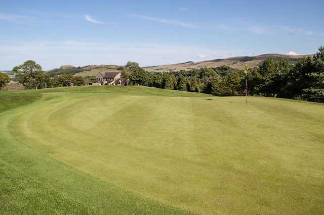 Hole with a view at the Skipton golf course