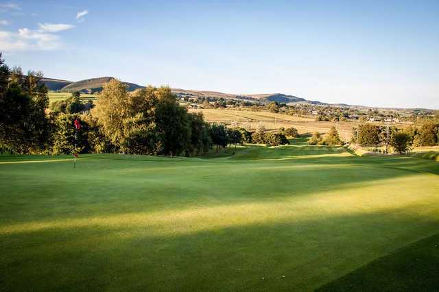 A landscape view overlooking the fairway
