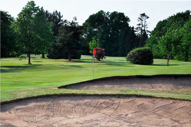 Bunkers at the 9th hole