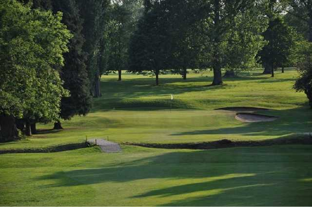 The 13th hole of the Hearsall golf course